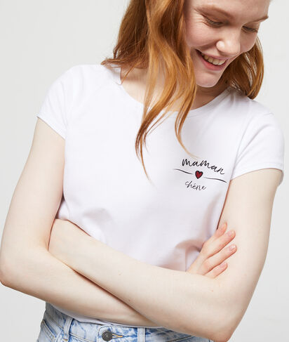 """T-shirt """"Maman Chérie"""" en coton"""