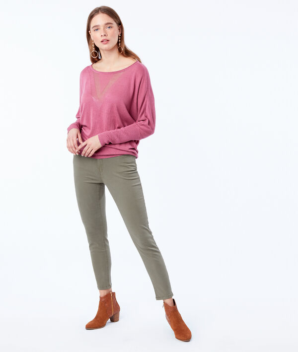 Pantalon slim court en coton