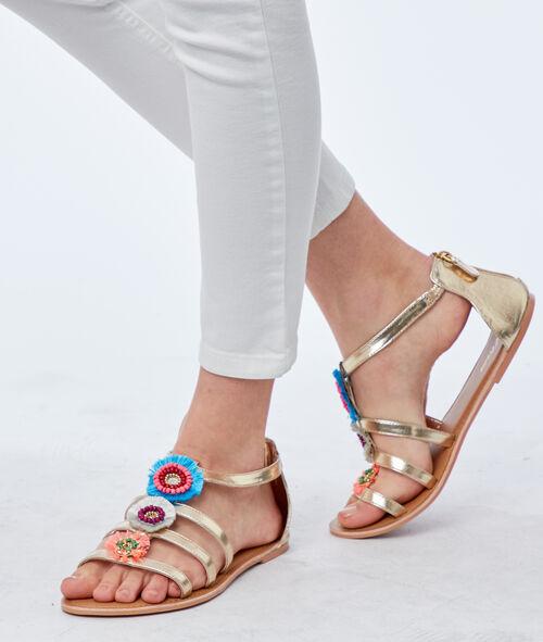 Sandales plates avec ornements