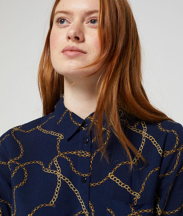 Chemise à imprimé chaines