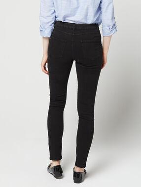 Pantalon slim 100% coton noir.