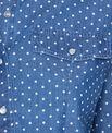 Chemise en jean à pois