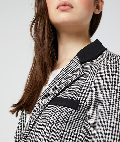 Veste de tailleur à carreaux