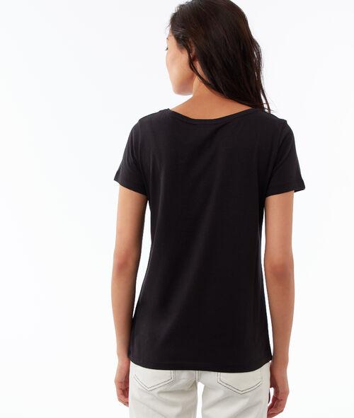 T-shirt col rond à franges