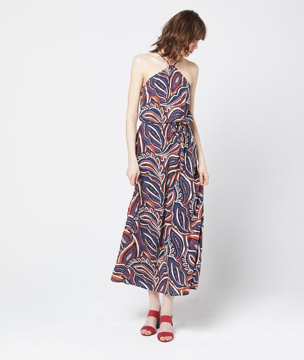 Robe longue à fines bretelles