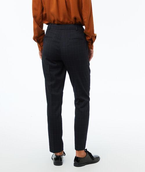 Pantalon cigarette à carreaux