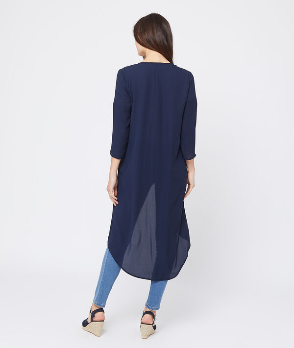 Kimono fluide effet transparent