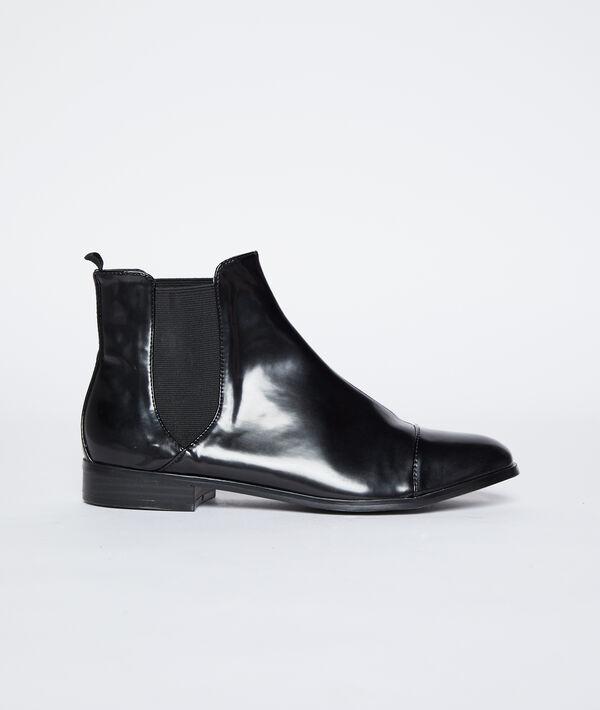 Boots plates effet vernis