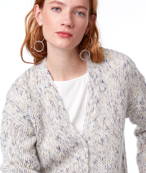 Gilet chiné grosse maille