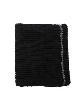 Écharpe fil métallisé noir.