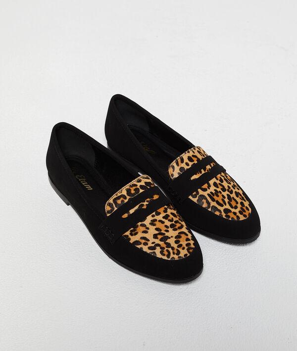 Mocassins à imprimé léopard