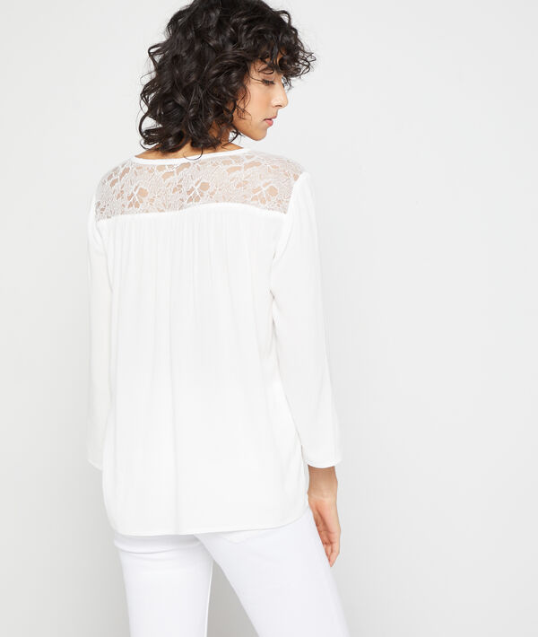 Blouse dos guipure