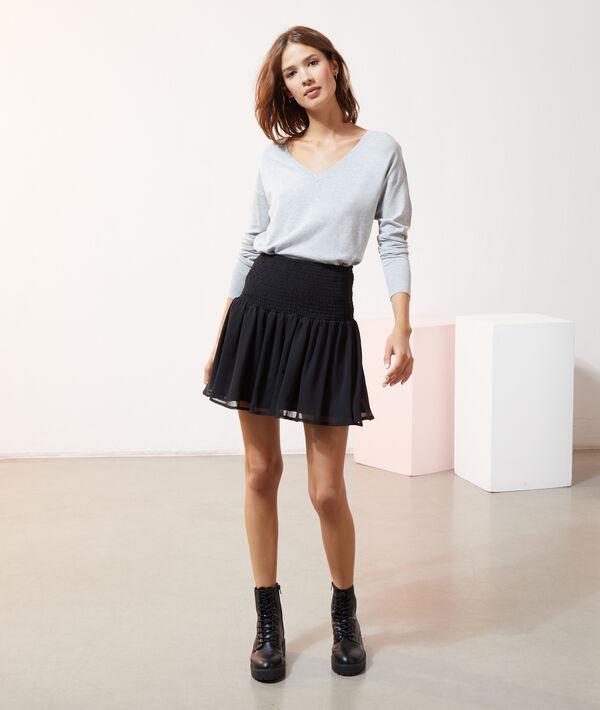 Jupe taille smokée - SMOCA - 34 - Noir - Femme - Etam