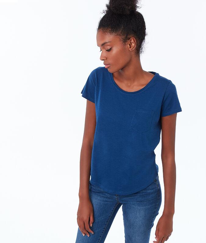 T-shirt col rond en coton moonlight.