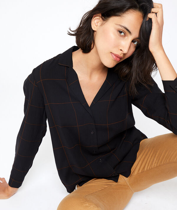 Chemise à carreaux - MEGAN - 36 - Noir - Femme - Etam