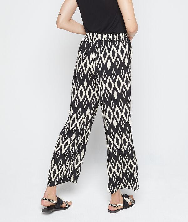 Pantalon large à motifs graphiques