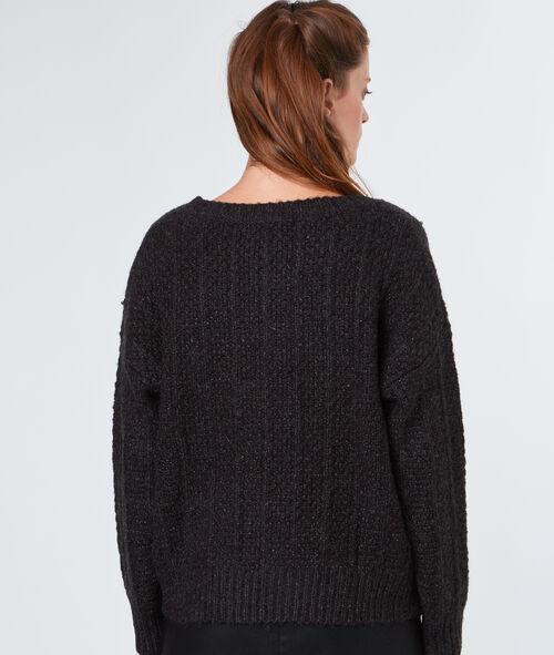 Pull tricot à perles