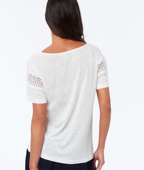 T-shirt à guipures
