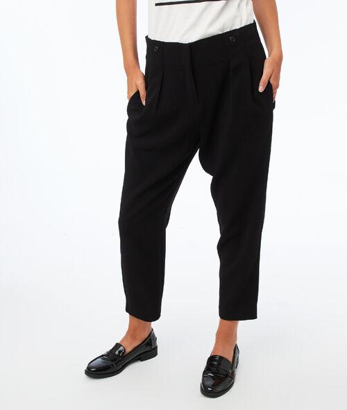 Pantalon bretelles amovibles taille haute