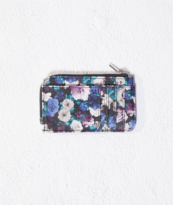 Porte-monnaie imprimé fleuri - LILLA - TU - Bleu - Femme - Etam