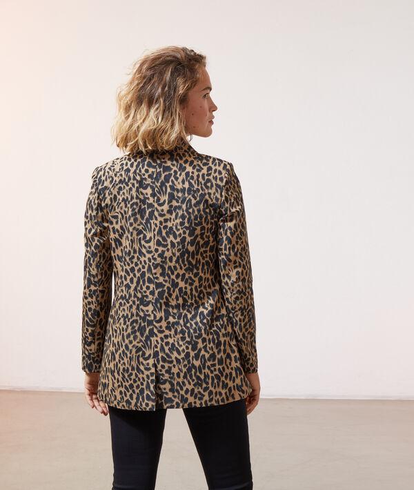 Veste de tailleur imprimé léopard