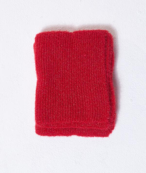 Ensemble bonnet et écharpe à fils métallisés