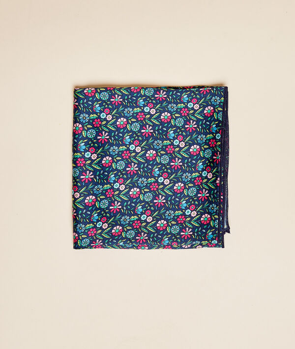 Foulard 44 x 44 cm imprimé fleuri