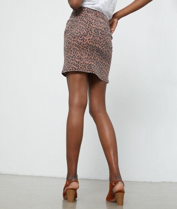 Jupe imprimé léopard en coton