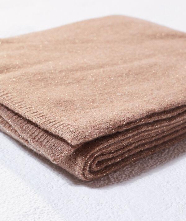 Echarpe à fils métallisés en cachemire et laine