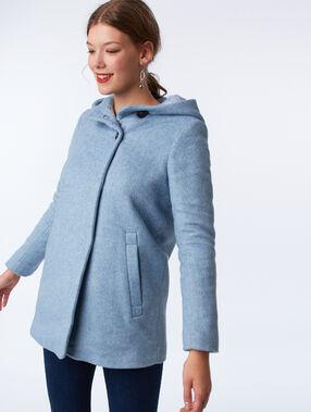 Manteau à capuche ciel.