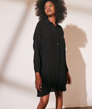Robe chemise en gaze de coton