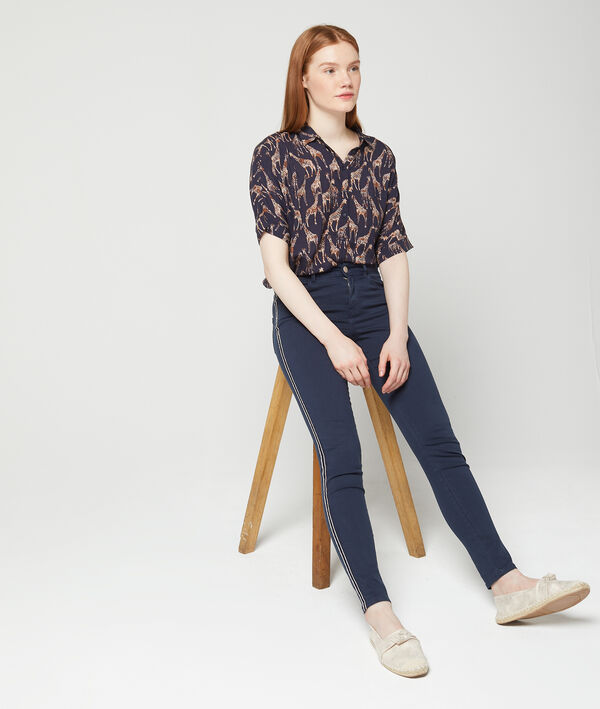 Pantalon skinny à bandes latérales