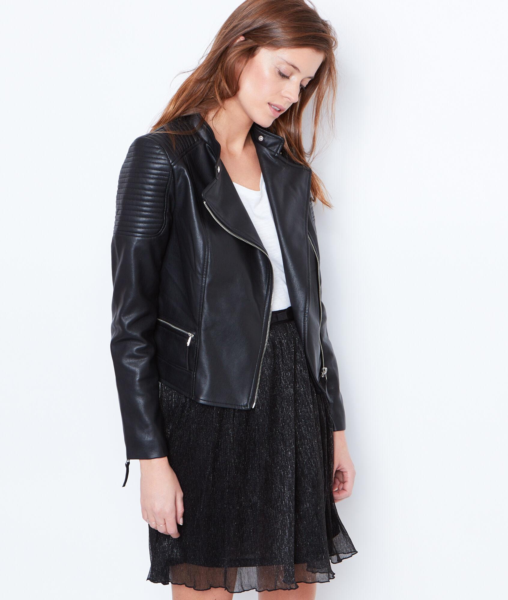 Veste en cuir femme style rock