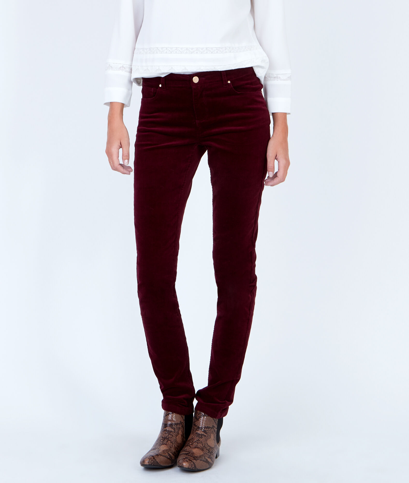 Pantalon slim en velours c tel - Pantalon velours cotele homme ...