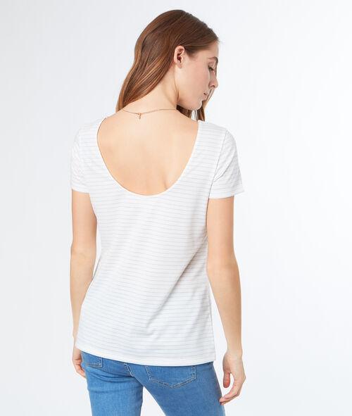 T-shirt rayé avec dos décolleté