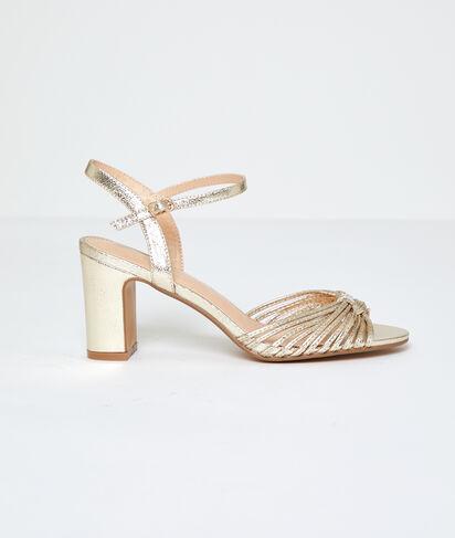 Sandales métallisées à talons