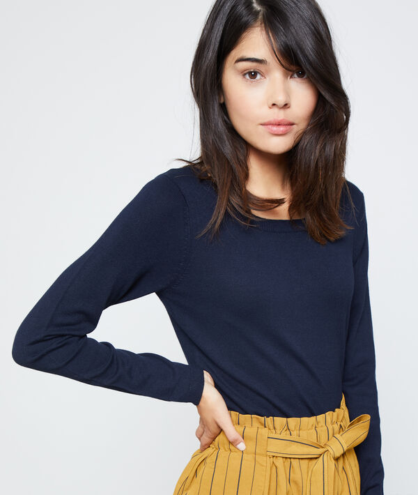 Pull col rond en maille fine
