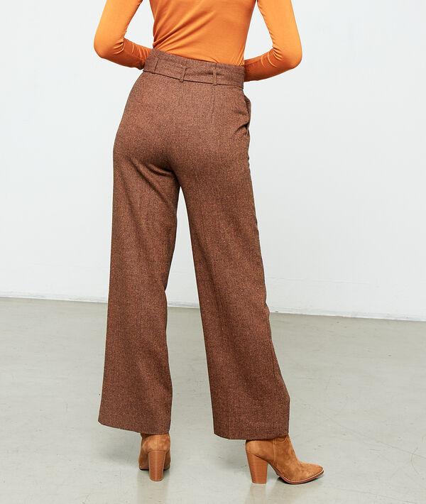 Pantalon large ceinturé