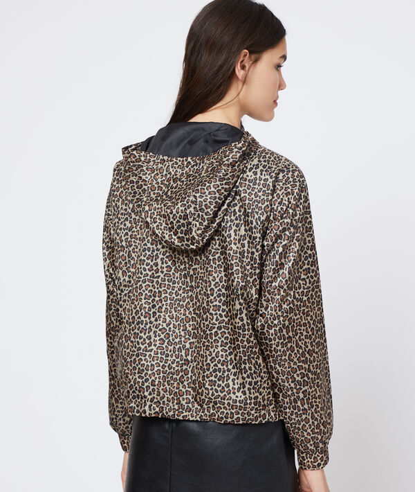 Coupe-vent à imprimé léopard