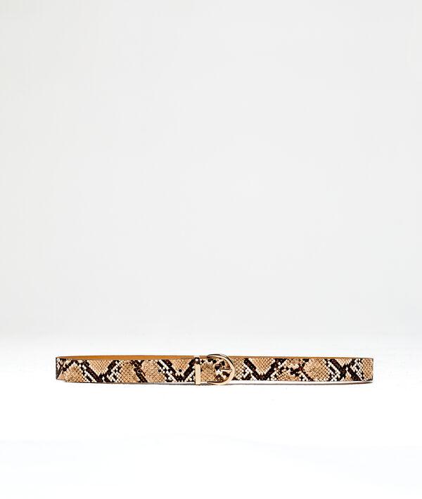 Ceinture à imprimé serpent
