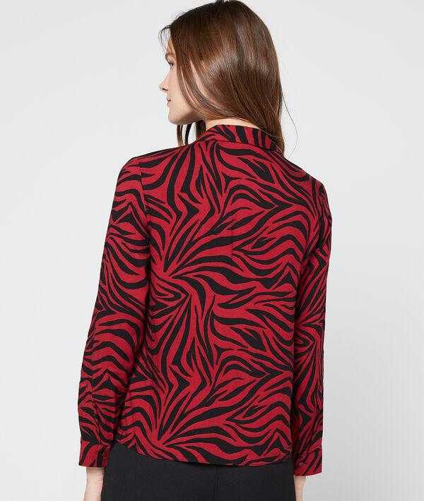 Chemise à imprimé zèbre