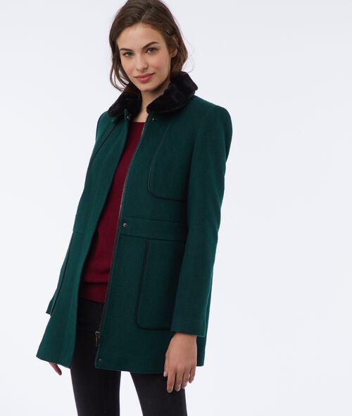 Manteau avec col amovible