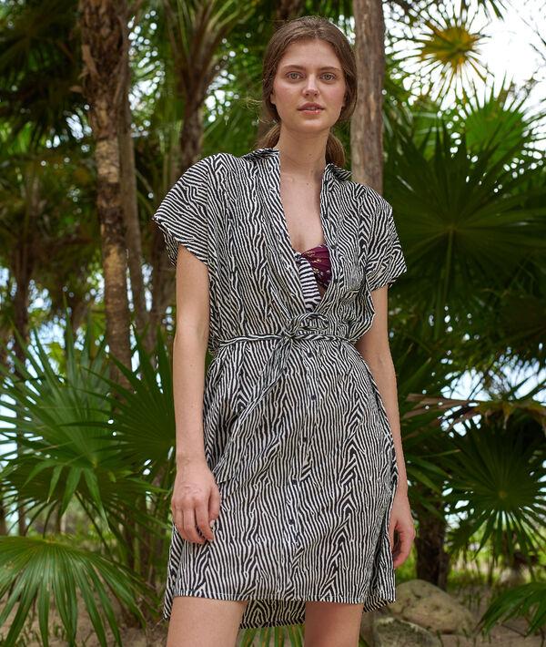 Robe chemise de plage en coton