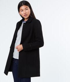 Manteau 3/4 en laine noir.