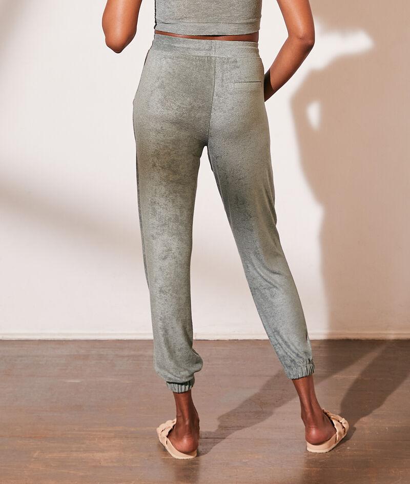 Pantalon jogger en velours éponge