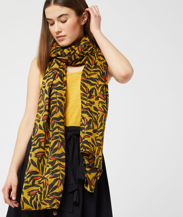 Foulard à imprimé floral - SAWE - TU - Jaune - Femme - Etam