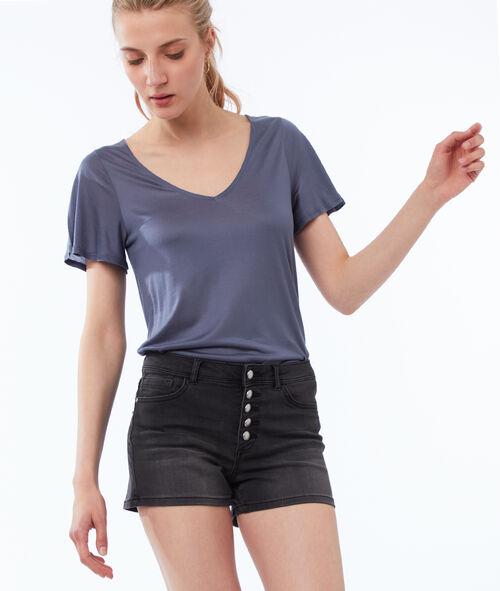 T-shirt col V en Tencel®