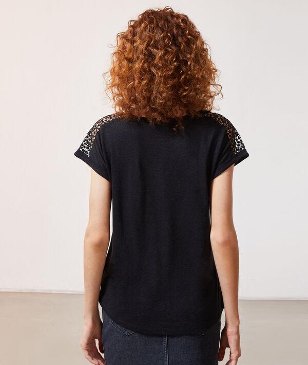 T-shirt détail guipûre