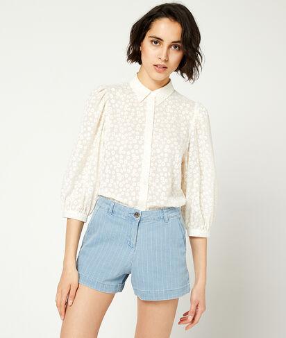 Short en jean à rayures