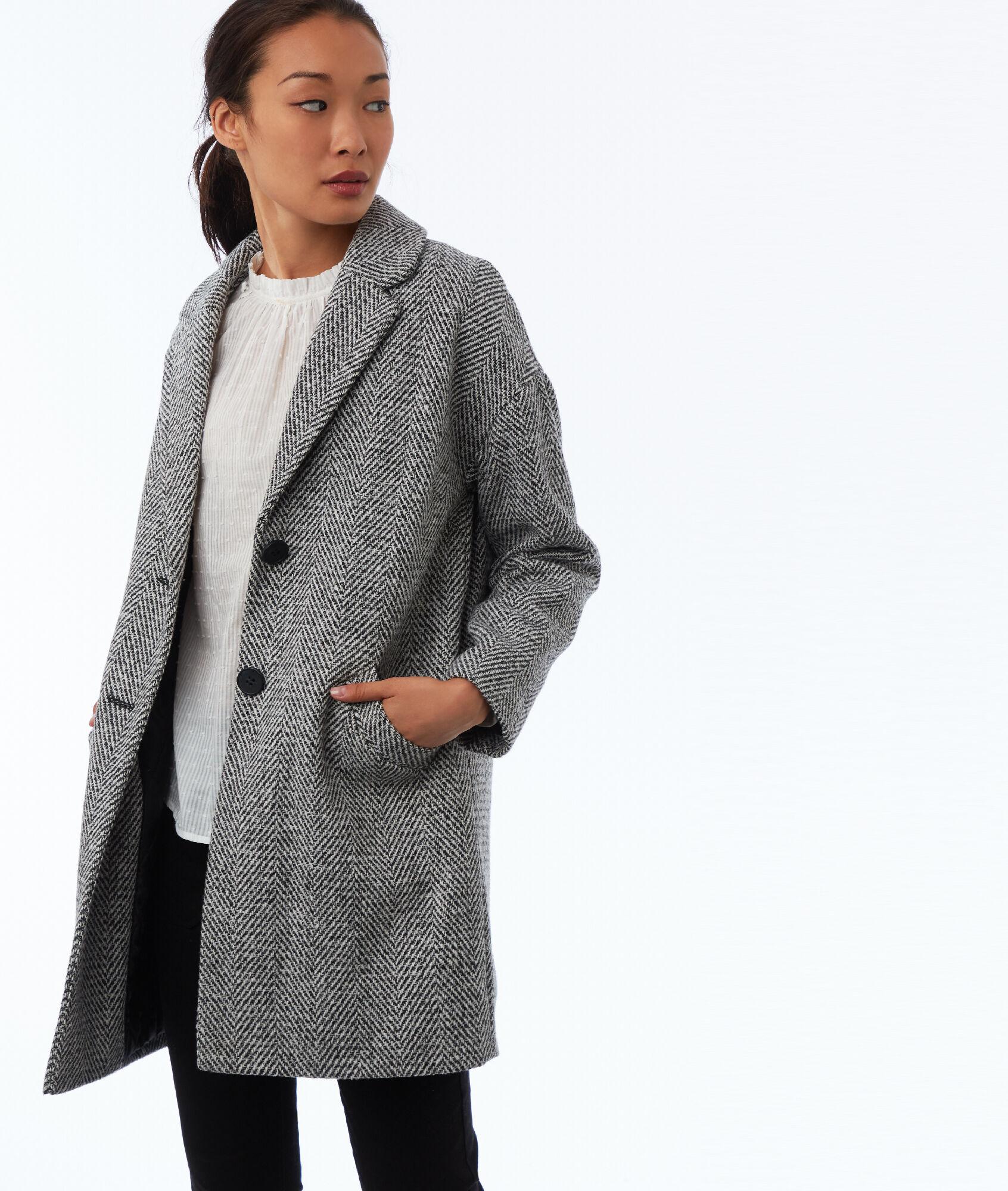 Manteau longue femme style militaire